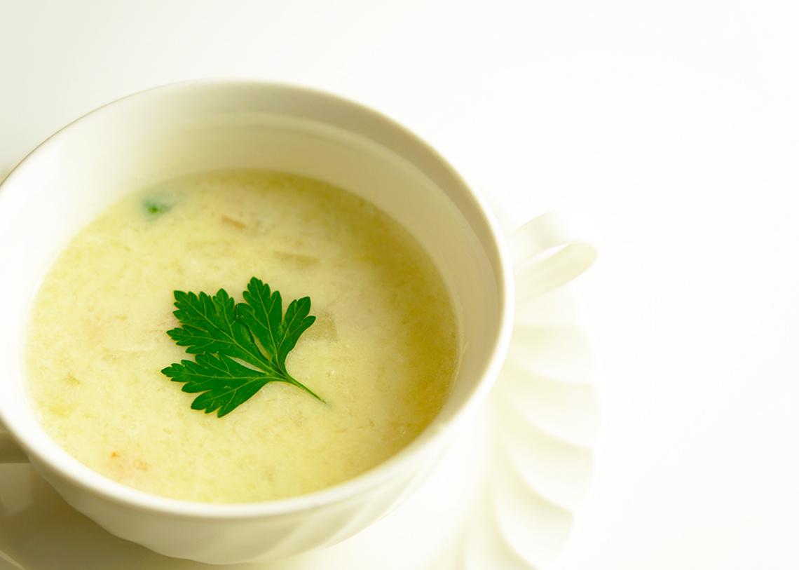 のどぐろ一夜干しの豆乳スープ